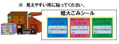 西東京市ごみ処理券