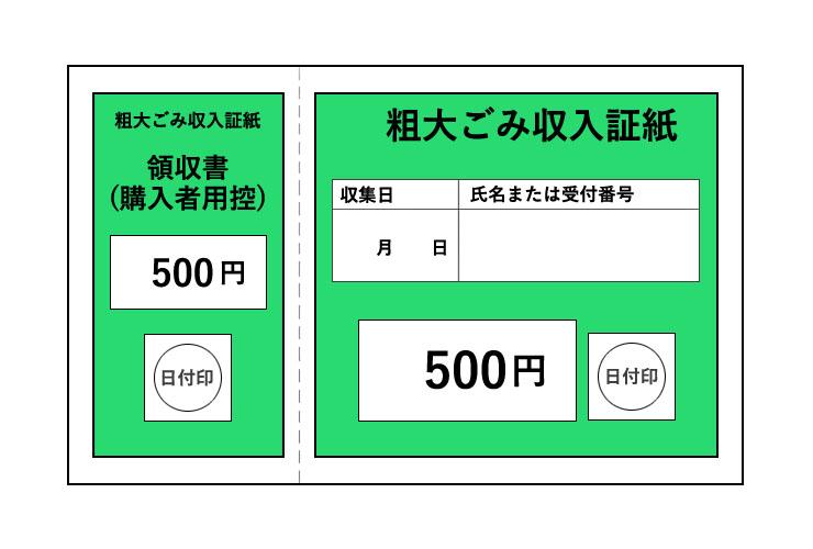 粗大ごみ収入証紙 500円