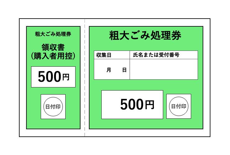 粗大ごみ処理券 500円