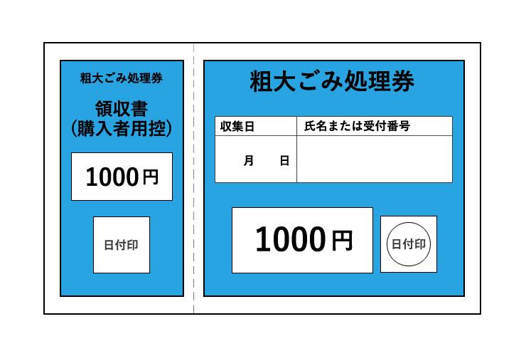 粗大ごみ処理券 1000円