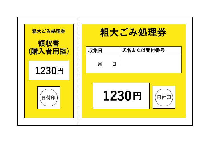 粗大ごみ処理券券1230円